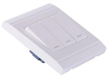 罗格朗(legrand)vrs33/2/3ay三位双控带荧光小按钮