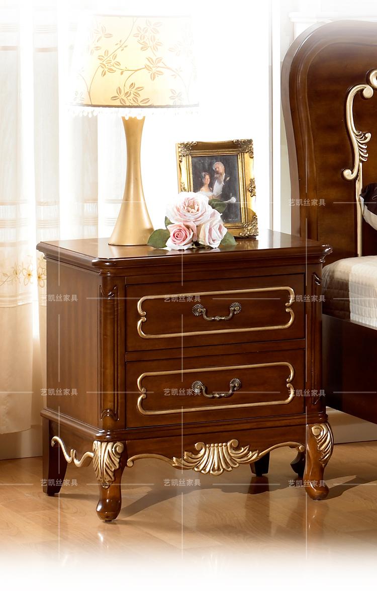 欧式贵族奢华床头柜
