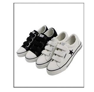 回力(warrior)wxy-55魔术贴低帮情侣帆布鞋(白色)