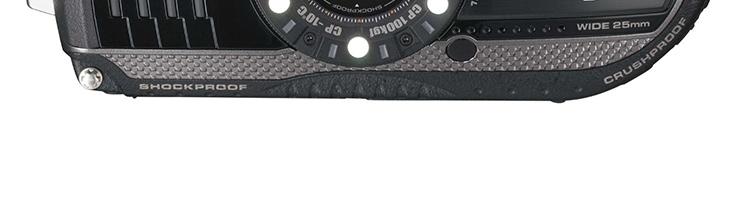 宾得(pentax)optio wg-3三防数码相机(黑色)