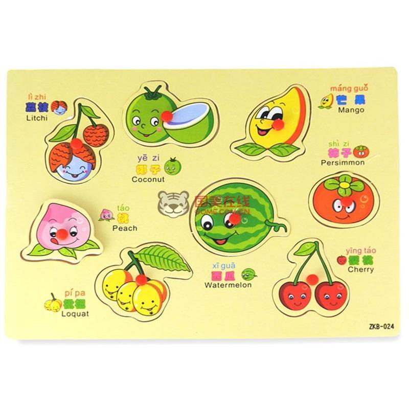 儿童水果拼图图片 儿童水果拼图图片 简单水果拼图图片